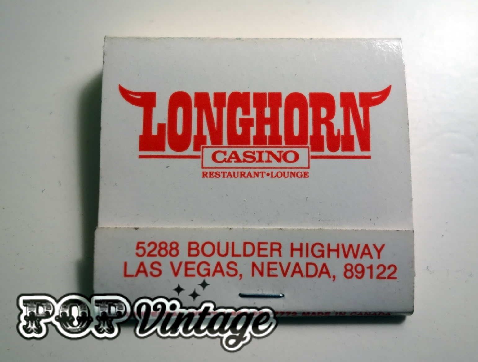 Vintage Vegas Matchbook – Longhorn Casino
