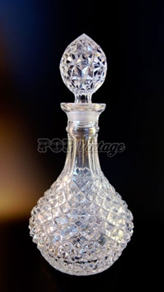 Vintage Rounded Crystal Decanter