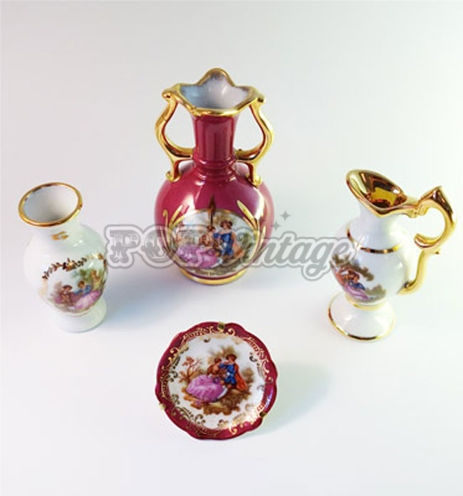 Vintage Limoges porcelain miniature set